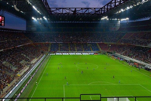 Football Stadium Football Match San Siro Flood Light