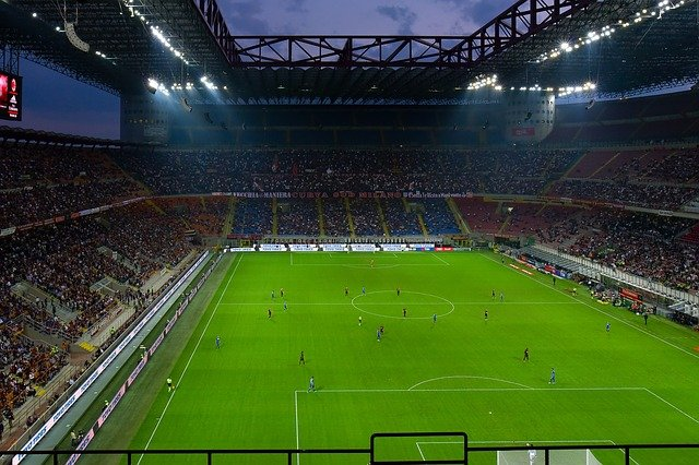 Football Stadium Football Match San Siro Flood Light